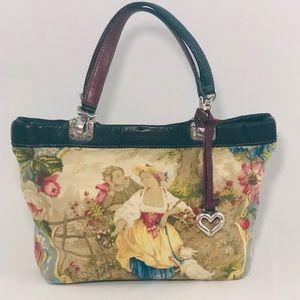 Brighton Rare Vintage Toile Print Hand Bag